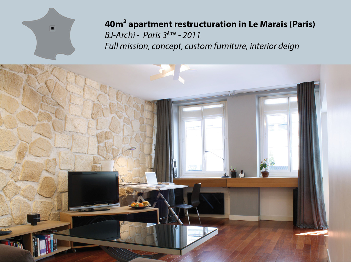 40m² Apartment in Le Marais (Paris center)