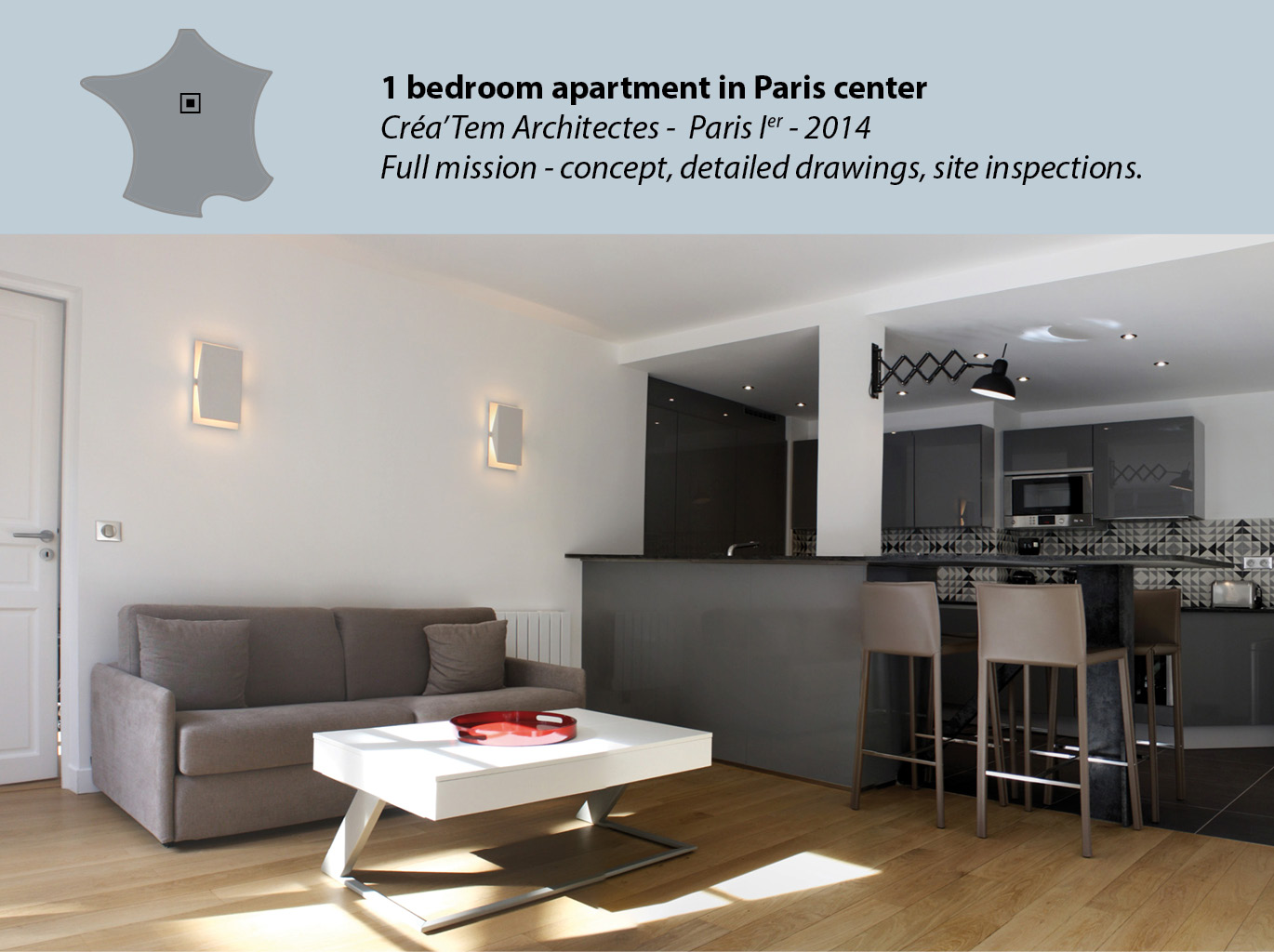 1 bedroom apartment in Paris center