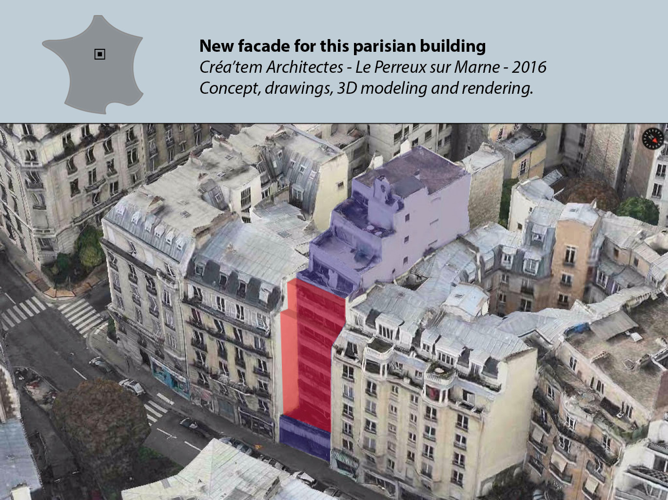 New parisian building facade
