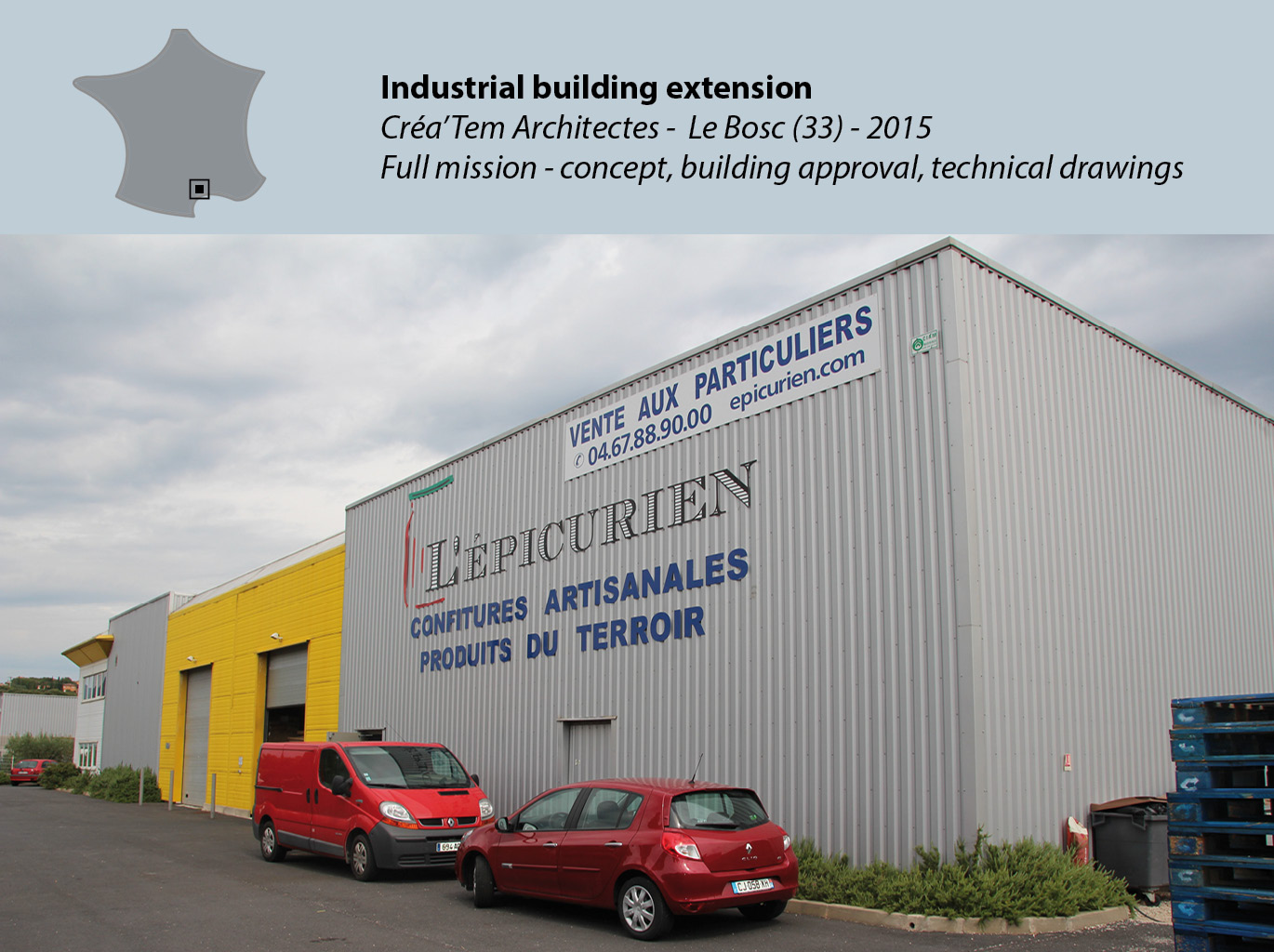 Industrial building extension